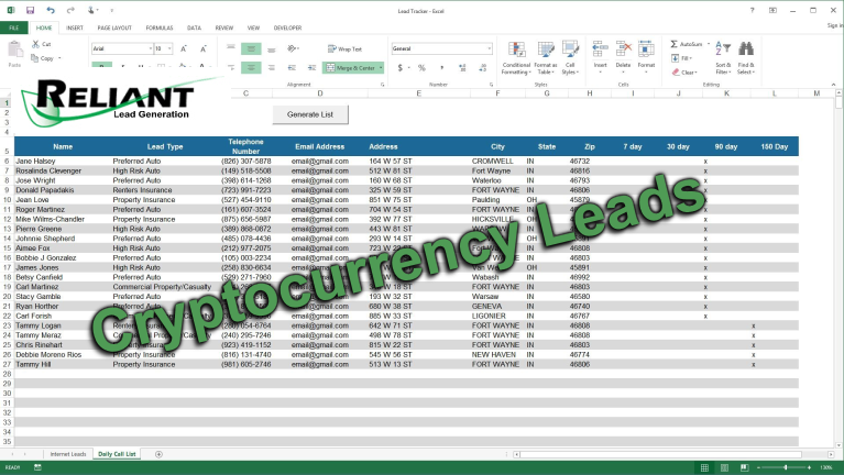 Cryptocurrency Buyer List – Niche Sales Leads and Databases